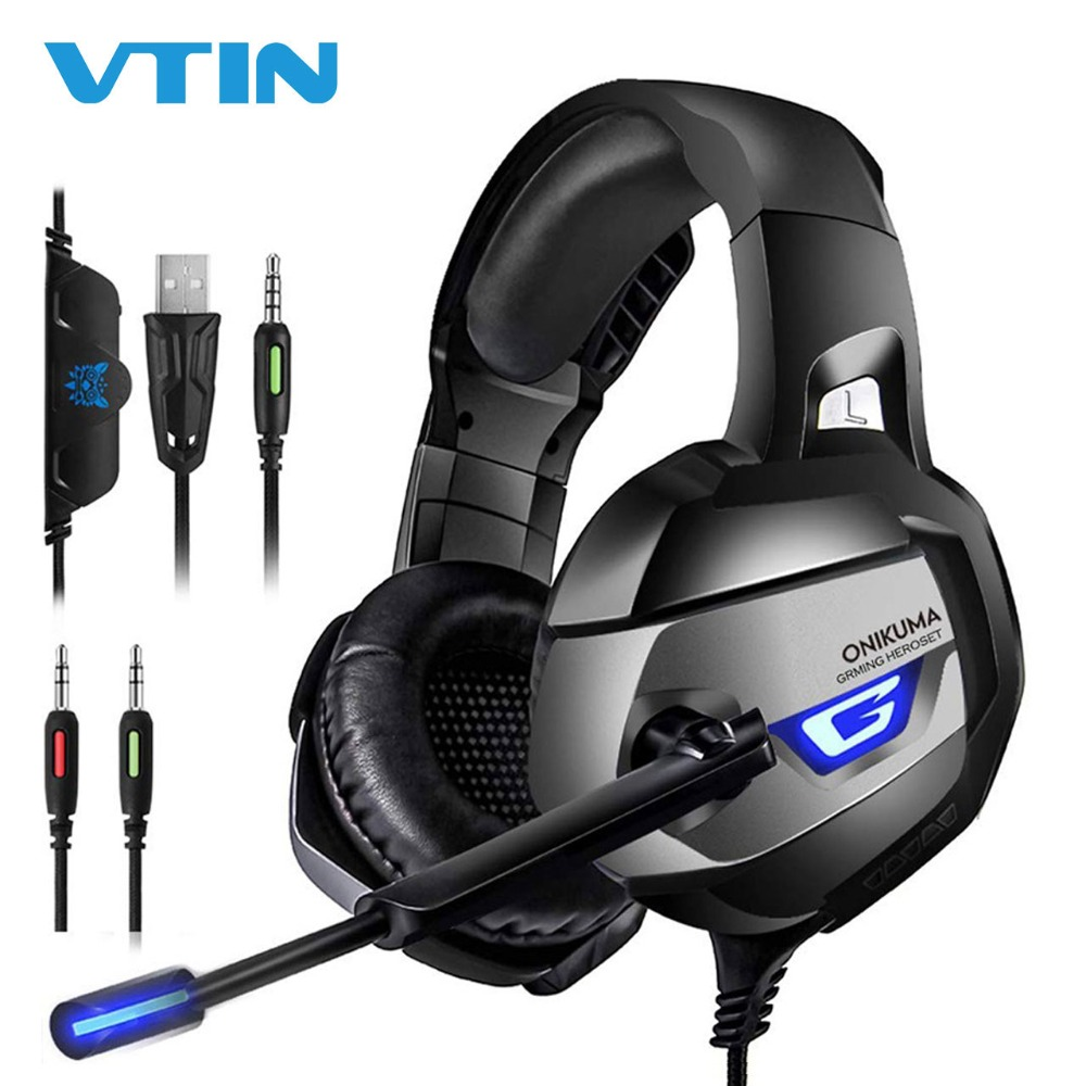 VTIN Stereo Wired Headset Headphones USB//3.5mm Noise Cancelling with Mic For PC