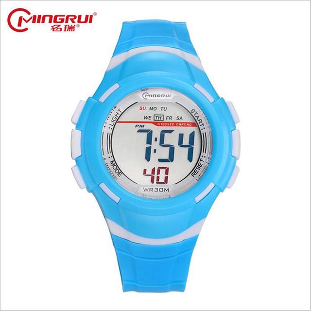 2017 Relógios de Marca Relógios do Relógio das Crianças Da Menina do Menino À Prova D' Água Relógio Eletrônico Levou Relógio Estudante Esportes Ao Ar Livre Enfant