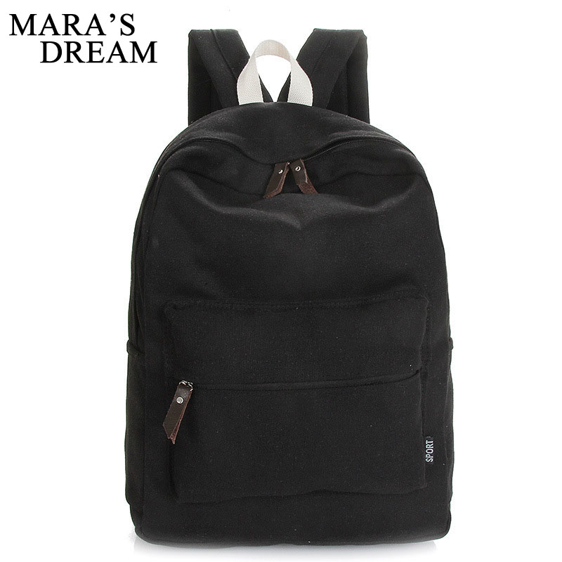 Maras Dream Fashion Backpacks For Men Women Solid Preppy Style Soft Backpacking Bag Unisex School Bags Canvas Back Pack Bag