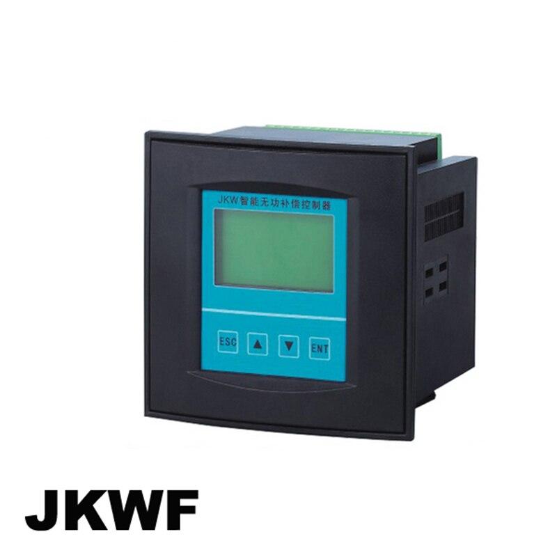 JKWF contrôleur de correction de facteur de puissance en phase divisée 12 étapes LCD tension de courant facteur de puissance actuellement réactif de puissance
