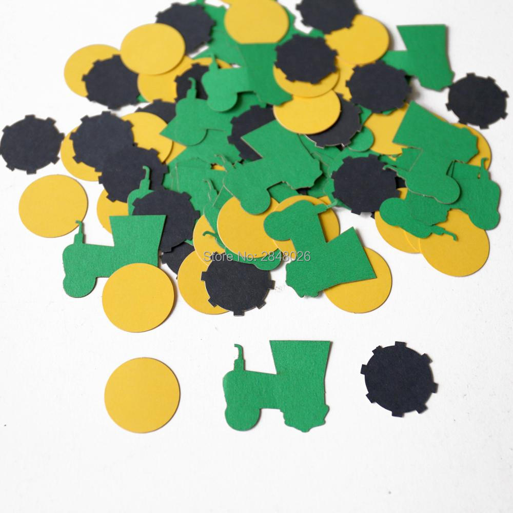 Tractor Confetti Party Table Decorations Boy Birthday Decor-in Banners Streamers