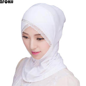 ZFQHJJ Under Scarf Bonnet Hijabs-Cap Lace Rhinestone Modal Cotton Women Muslim Ladies