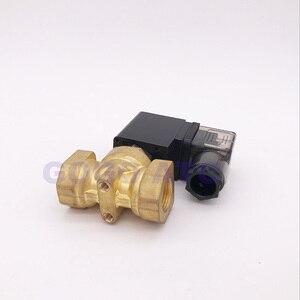 """Image 4 - ゴーゴーノーマルクローズ 2 ウェイコンパクトパイロット水真鍮ソレノイドバルブ 16bar 1/4 """"3/8"""" 1/2 """"BSP オリフィス 10 ミリメートル 220 ボルト AC PXC D14511 NBR"""