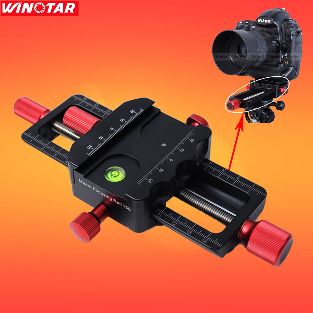 150mm Macro Focusing Rail Slider Close-up Shooting Head With Arca-Swiss Fit Clamp Quick Release Plate for Tripod Ballhead