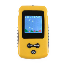 Portable Fish Finder Water Depth & Temperature Fish Finder with Wired Sonar Sensor Transducer Fish Finders