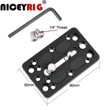 NICEYRIG Quick Release Plate Video Switching Camera Easy Plate Cheese Mount Plate DSLR Camera Cage Shoulder Rig Photography