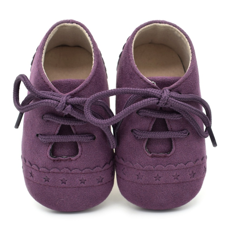 New Infant Baby Girls Boys Spring Lace Up Soft Leather Shoes Toddler Sneaker Non-slip Shoes Casual Prewalker P1