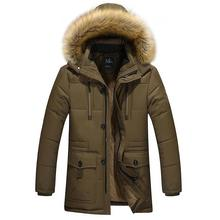 New Brand Clothing Winter Men Jacket Fashion Mens Winter Parka With Fur Hood Casual Warm Men's Coats Thick Long Parkas Homme 5XL