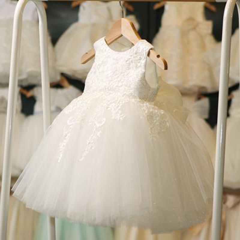 2018 Kids Girls Ball Gown Dress New White Toddler Girls Summer Lace Dress Princess Birthday Party Dress Children Clothing 10 12 2 7y princess children girls white lace dress brand new long sleeve toddler kids elegant party dresses one pieces clothing