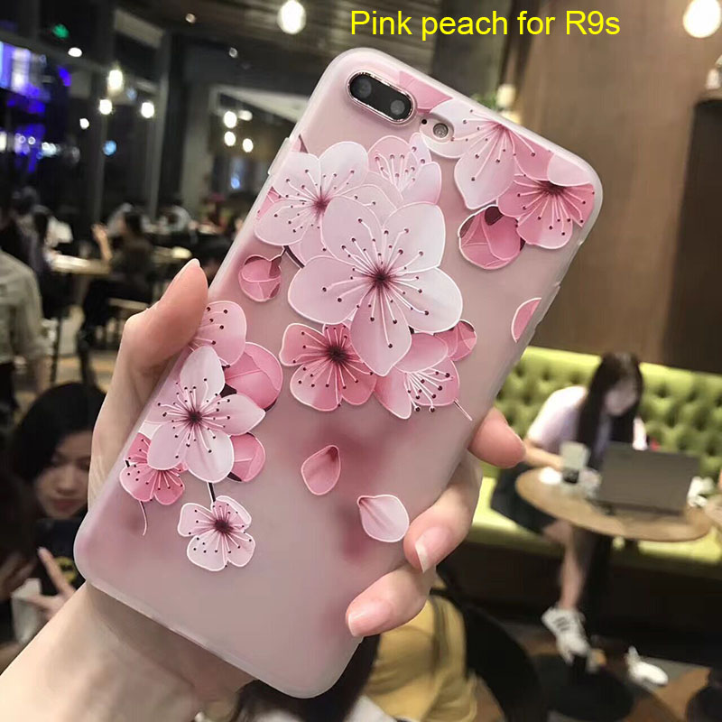 Mobile Phone Case Cover Flower Pattern Emboss Compatible for OPPO R9 R9S R11 R11S Plus JLRJ88