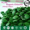 250 mg x 500 unids Envío Libre 100% Chlorella Orgánica Chlorella Vulgaris Tablet Roto Alta Calidad Rica de Clorofila, proteína