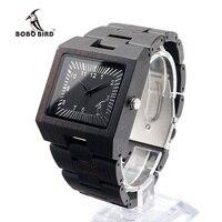 BOBO PTAK L23 Czarny Drewno Sandałowe Mężczyzn Zegarek Analogowy Mechanizm Kwarcowy Lekki Zabytkowe Drewniane Zegarek Z Pudełko