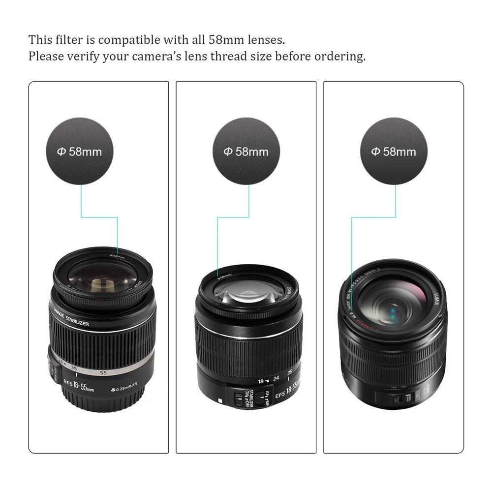 Jumpflash камера УФ фильтры 49 мм 52 мм 55 мм 58 мм 62 мм 67 мм 72 мм 77 мм для Canon для Nikon Объективы Аксессуары