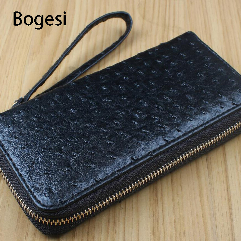 Bogesi New 2018 High Quality Ostrich Skin Pattern Brand PU Leather Wallets Business Women Long Wallets Famous Design  Female
