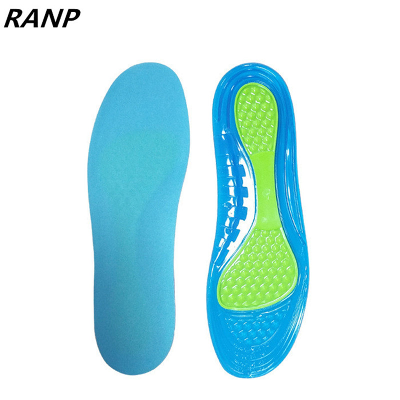 Silicon Gel Insole Foot Care Plantar Fasciitis Heel Massage Sport Sole Shock Absorption Pads Arch Orthopedic Insert Dropshipping