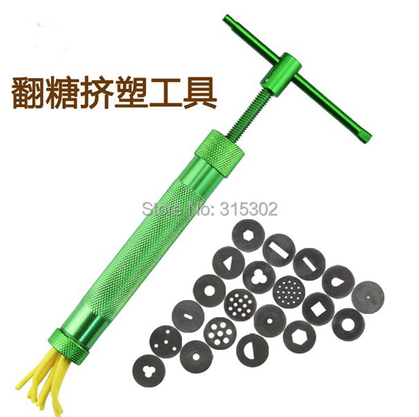 20 dics top quality stainless steel sugar paste extruder for Top quality garden tools