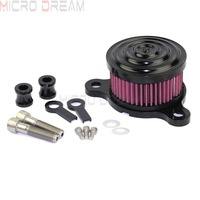 Motorcycle Rough Craft Air Cleaner Intake Filter Billet Aluminum Air Filters For Harley Sportster 883 1200 XL 2004 Up Roadster