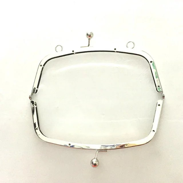 8 x 3  Nickel Clutch Purse Frames with holes and screws - Ships from the CHINA