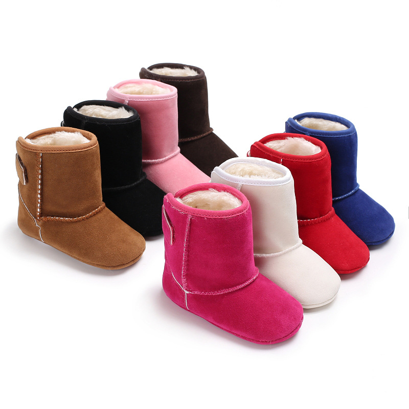 Baby Snow Boots 2017 Winter nubuck leather Baby Boy Girls Shoes Soft Warm Kids Toddler First Walking shoes 0-18M
