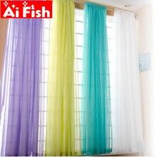 Европейский и американский стиль, белые оконные занавески, сплошные дверные занавески, драпированные панели, отвесный тюль для гостиной, AP184#3-40