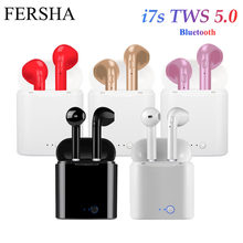 I7s Tws Bluetooth Earphone Headphone Nirkabel Olahraga Headphone dengan Mikrofon Bluetooth Headset untuk I Phone Samsung Huawei LG(China)