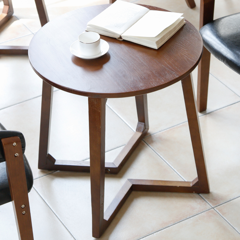 100 Wooden Tea Table Round Small Coffee Creative