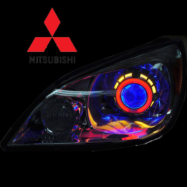 Bi Xenon Mitsubishancer Double Angel Eyes H1 Bulbs-3939