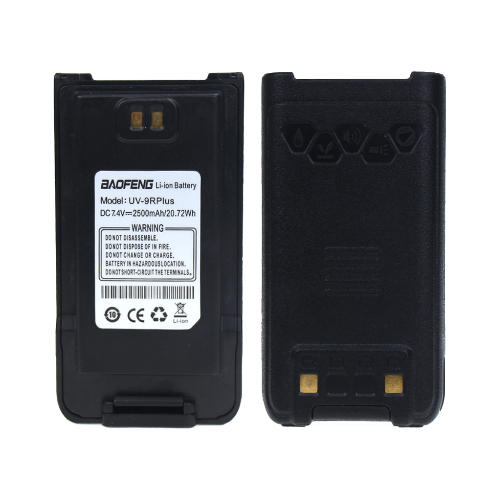 100% Original Waterproof Baofeng UV-9R Plus Walkie Talkie Battery 7.4V 2500mAh Li-ion Battery Pack For Baofeng UV-9R Plus