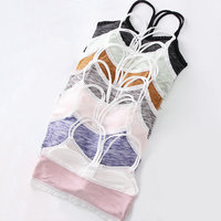 7pcs/lot Child Teenage Underwear Bras Lingerie Clothing Cotton Training Lace Bra For Young Girls Wireless Puberty Undergarment