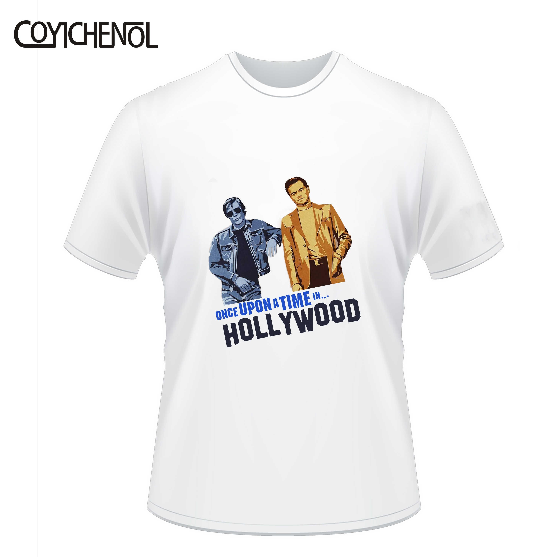 Leonardo dicaprio เสื้อ kawaii Once Upon a Time in Hollywood tshirt ชายแขนสั้น O-คอ tops ขนาดใหญ่ขนาด modal top