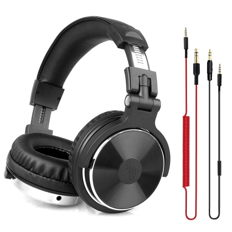 Oneodio dj fone de ouvido com microfone jogos alta fidelidade fone de ouvido dj para o telefone alta qualidade estúdio profissional alta fidelidade