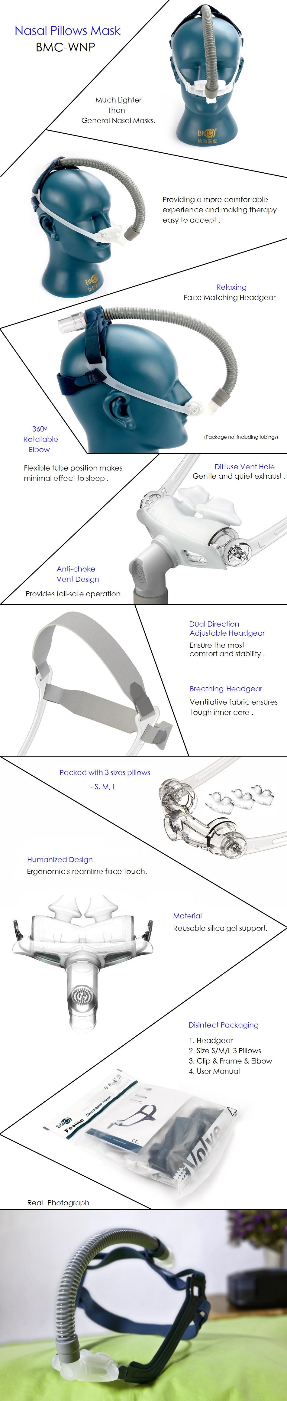 CPAP APAP BiPAP WNP Nasal Pillow Mask (1)