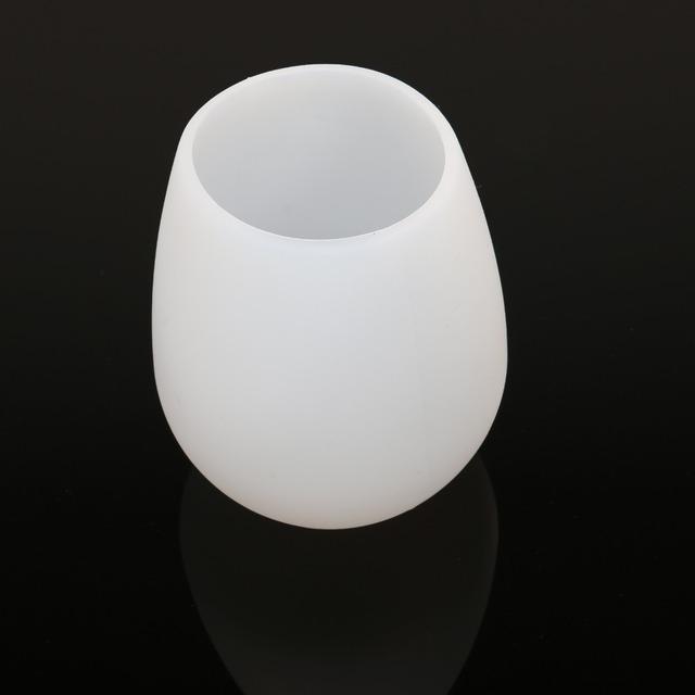 Round White Silicone Wine Glass 2 pcs Set