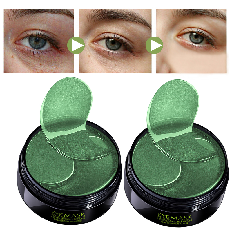 Eye Patch Mask Collagen Korea Against Wrinkles Dark Circles Care Eyes Bags Pads Ageless Hydrogel Sleeping Gel Patches 60PCS LQ(China)