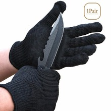 Anti-cut Gloves Black Working Protective Stainless Steel Wire Metal Glove Mesh Safety Self Defense Glove Anti-static Durable недорого