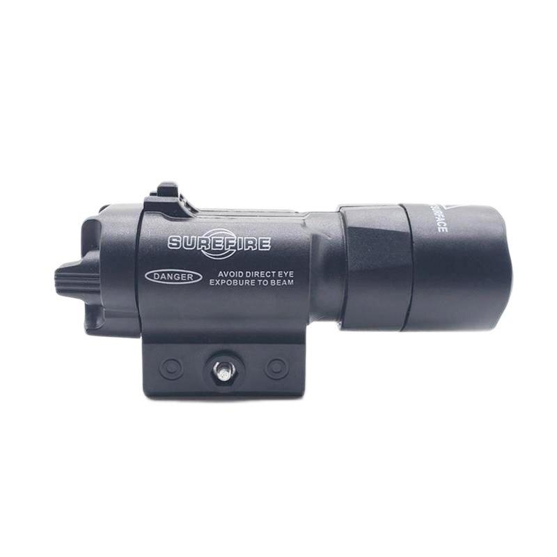 ABS taktik el feneri için uygun 21mm ray siyah oyuncak tabanca aksesuarları