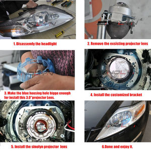 Image 5 - Sinolyn Projector Lens For Ford Mondeo Mk4 Hella 3R G5 Lens With Frame Bi Xenon Headlight Lens Use D2S D1S D3S D4S LED HID Bulb