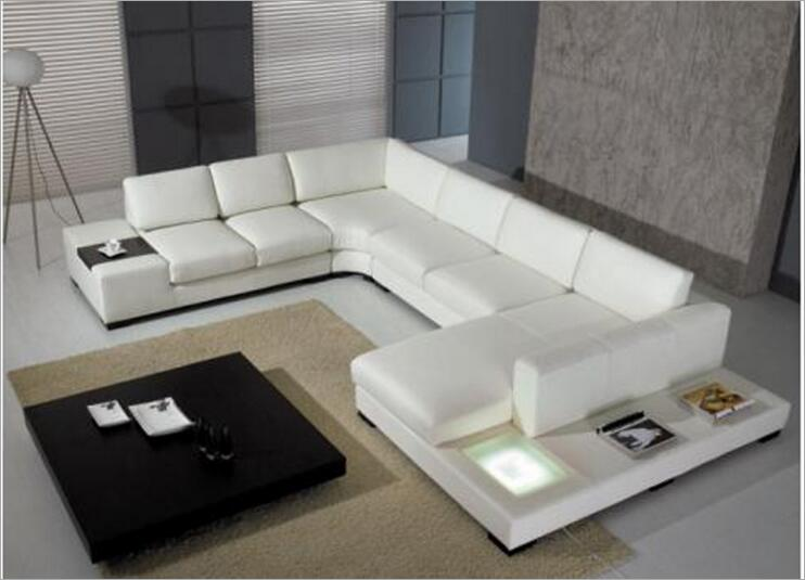 Modern Style Living Room Genuine Leather Sofa A1291