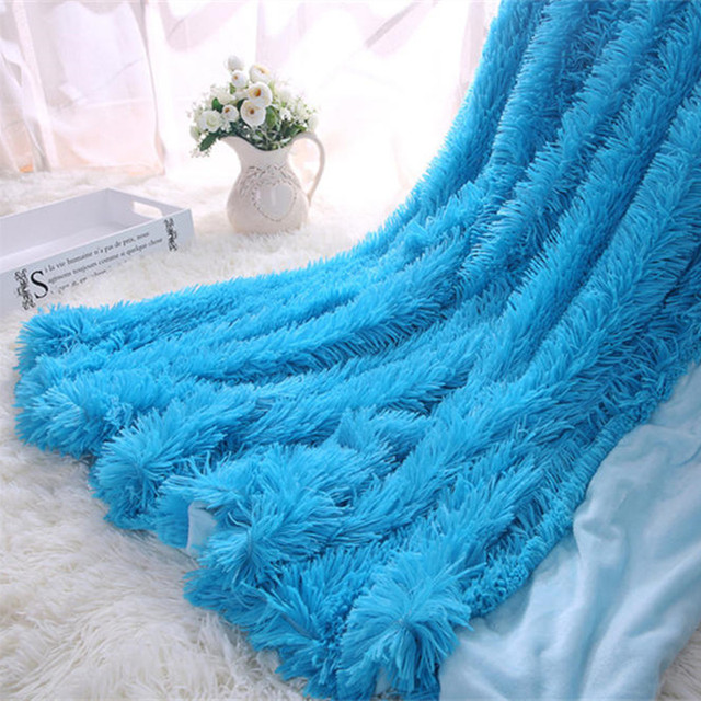 Fluffy Faux Fur Throw Blanket 1