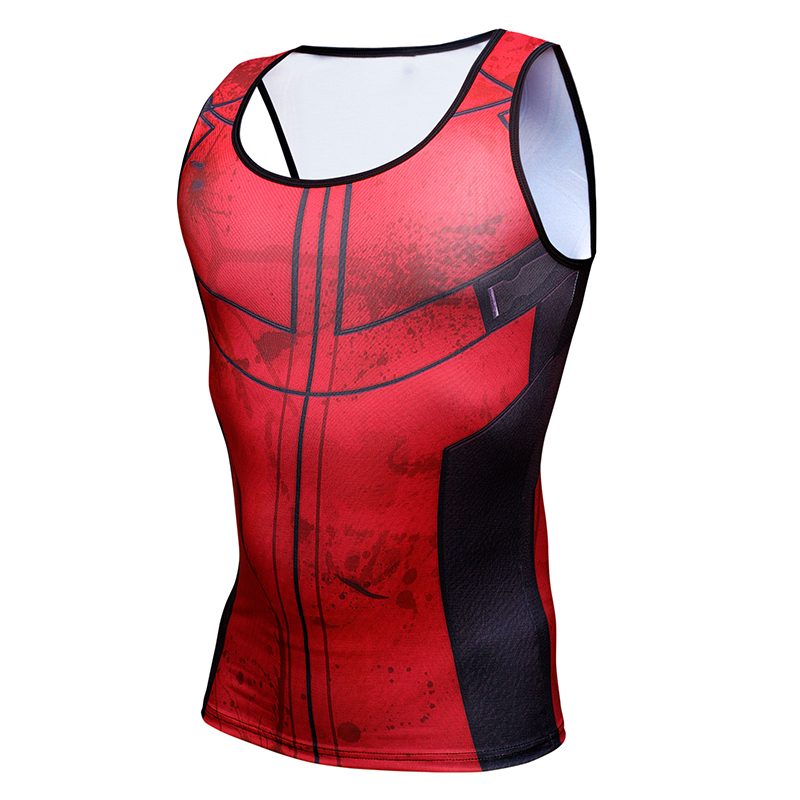 Avengers Deadpool Heavy Tank G ym Men Fitness Apparel Deadlift Shirt Men Tank Top Powerlifting Motivational Fitness Vest