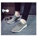 Nova Marca de Moda Designer Mens Casual Shoes Air Mesh Lona Formadores para Os Homens Ao Ar Livre Desporto Caminhadas Sapatos Respirável Sapatos Masculinos Flats