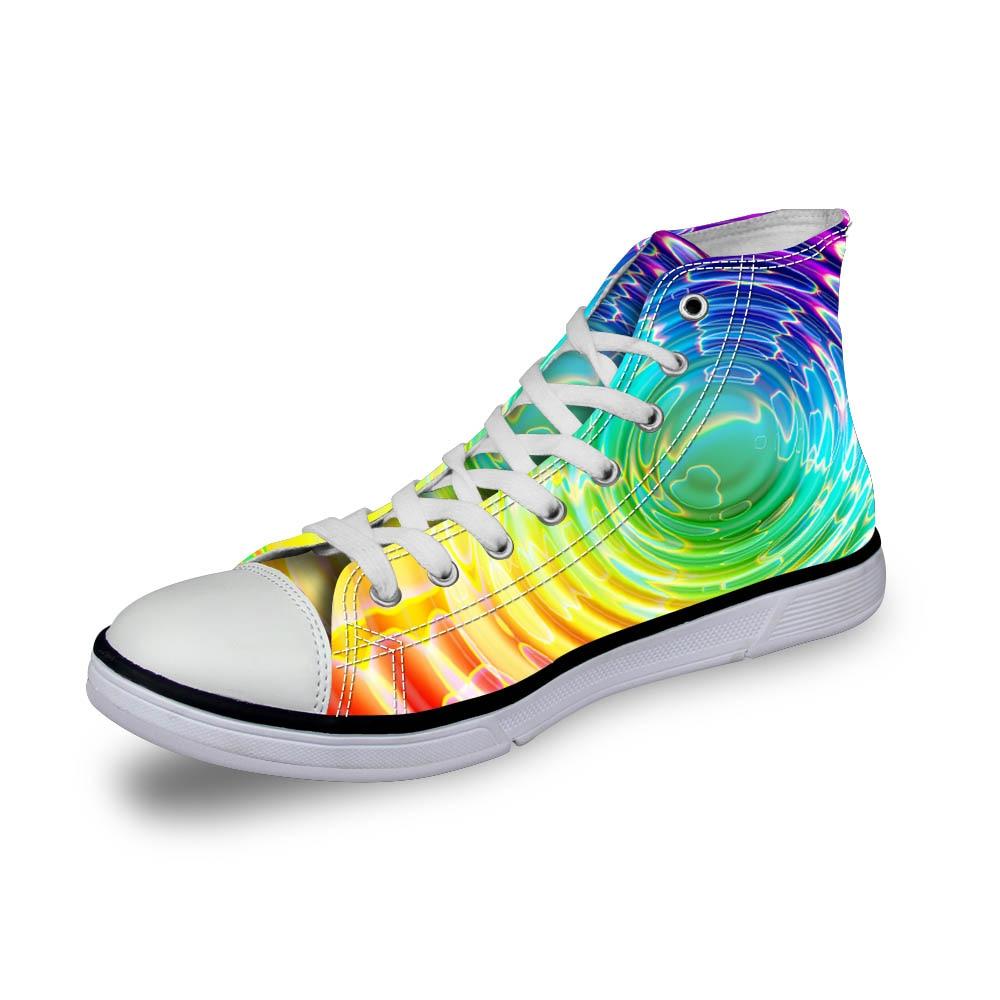 Noisydesigns السيدات خمر عالية أعلى حذاء - أحذية المرأة