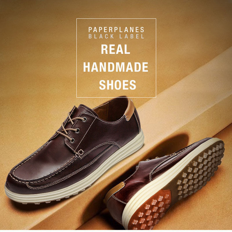 Paperplanes High Premium Handmade Leather Mens Comfort Shoes Sneakers - PP2002