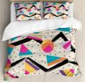 Инди набор пододеяльников для пуховых одеял большой размер восьмидесятые Мемфиса модный стиль геометрический абстрактный красочный дизай...