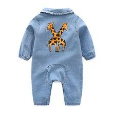 da265006cf9 Weichem Denim Babyspielanzug Karikatur Kleinkind Kleidung Neugeborene Overall  Babys Junge Mädchen Kostüm Cowboy Mode Jeans Kinder