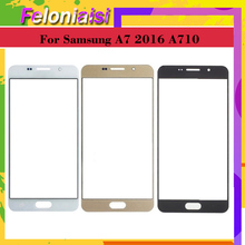 10Pcs/lot For Samsung Galaxy A7 2016 A710 A710F SM-A710F/DS Touch Screen Front Glass Panel TouchScreen Outer Glass Lens NO LCD samsung sm a710 galaxy a7 2016 black