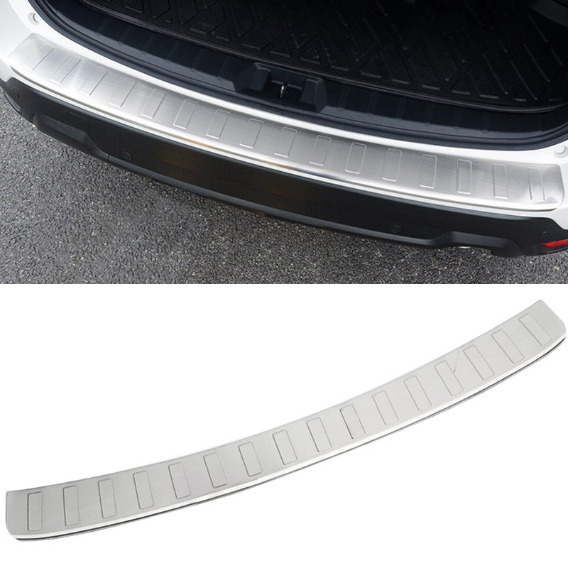 For Subaru Forester SK 2019 Stainless Steel Outer Rear Bumper Protector Guard Plate Trim 1pcs Car