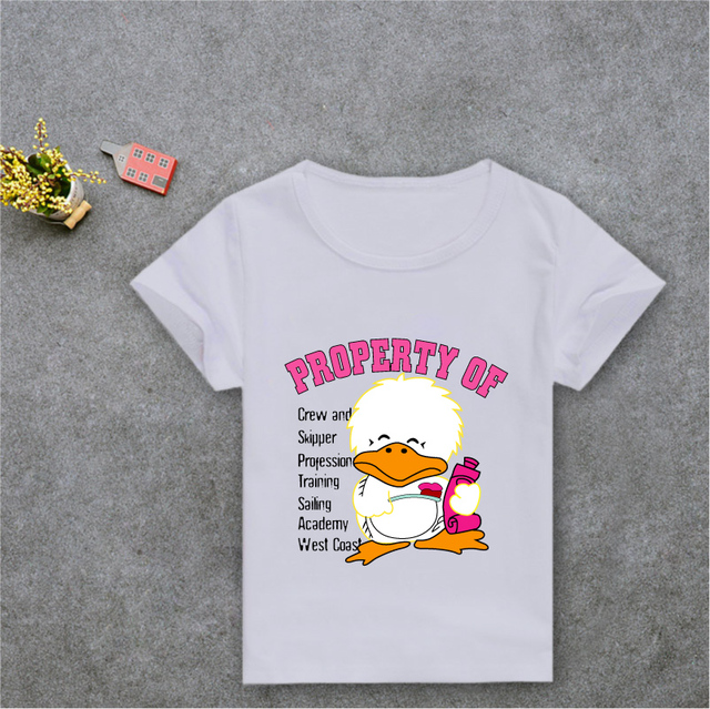 2017 Summer T Shrits Kids Cartoon Cute T Shirt White Short Sleeve Children  T