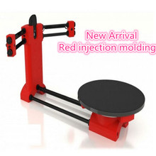 HE3D 3d scanner DIY kit, 2017 NEW red injection molding,Reprap 3d Open source Portable 3d scanner for 3d printer