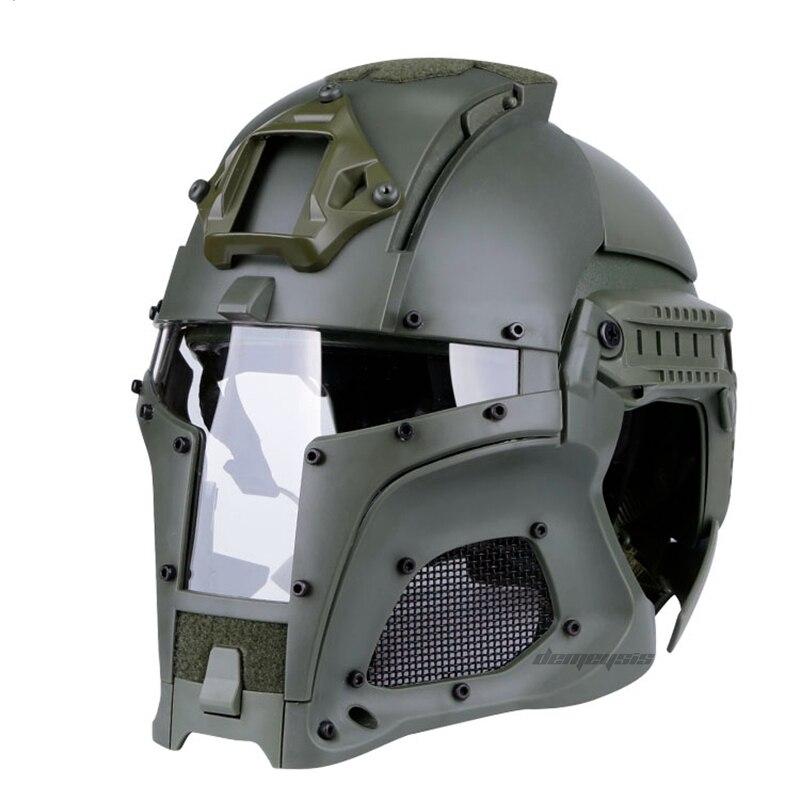 Airsoft Airsoft Capacete Esportes ao ar livre Tático De Segurança Moto Capacete Tático Capacete Cara Cheia Máscara Tático